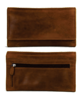 Rugged Earth Leather Ladies Wallet, Style 990015