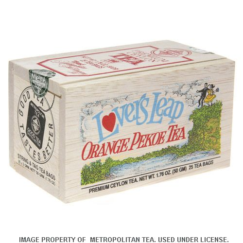 Wood Box, Lover's Leap Orange Pekoe, 25 Teabags
