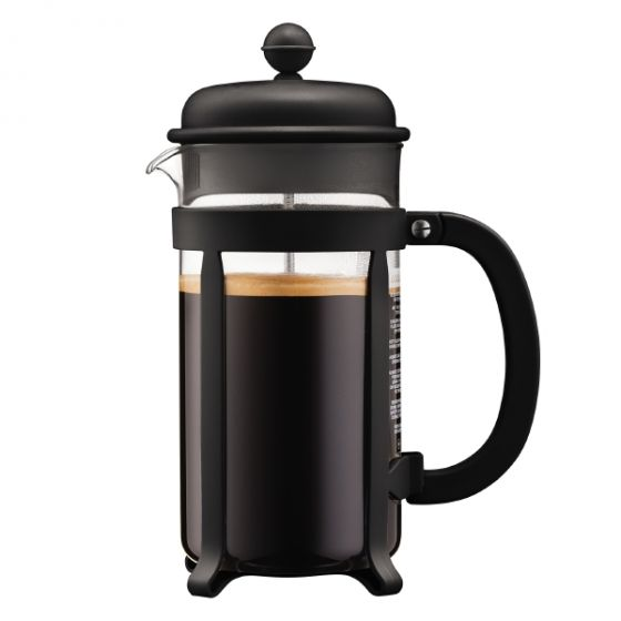 Java French Press Coffee Maker, 8 Cup Black
