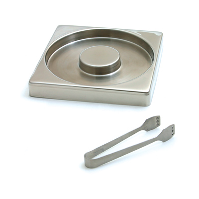 Swissmar Glass Rimmer & Tongs, Stainless Steel