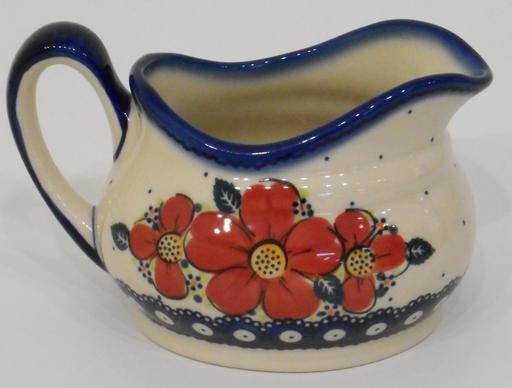 Gravy Boat, 500mL, Red Flowers & Dots