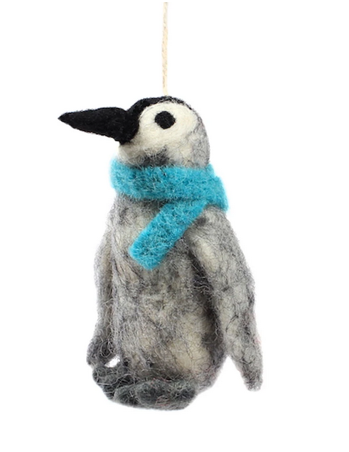 Arctic Penguin Felt Ornament
