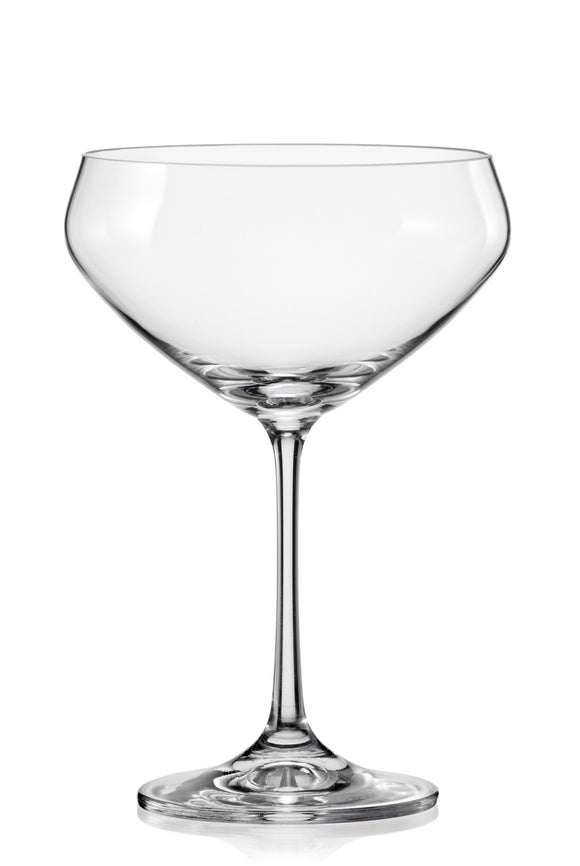 Bohemia Crystal Bar Champagne Coupe Glass, Set of 4, 340ml/12 oz