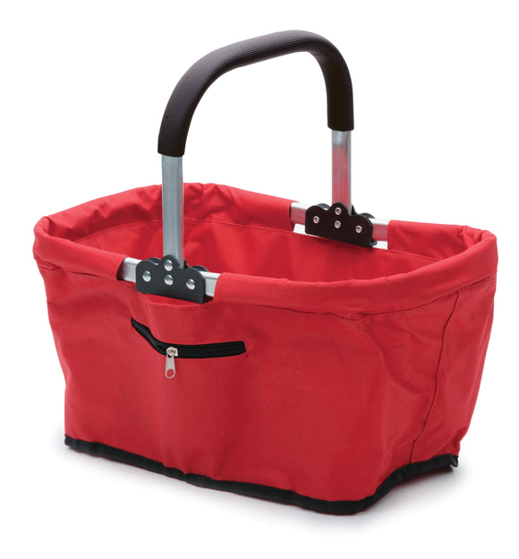 RSVP Fold-able Market Basket, Red