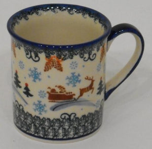 Mug, Small, 250mL, Snowflakes & Reindeer