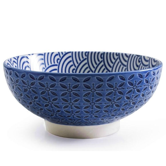 Aster Serving Bowl, Blue 7.25