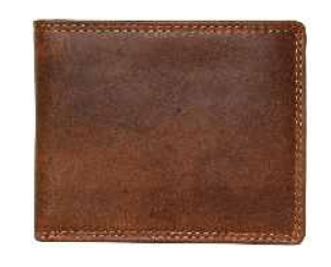 Rugged Earth Leather Wallet, Style 990009