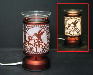 Touch Sensor Lamp - Copper Bird w/Scented Oil Holder, 6.5""