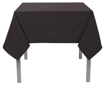 Now Designs Renew Tablecloth, Black 55x55
