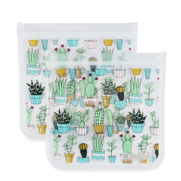 ZipTuck Re-Usable Sandwich Bags, Set of 2 - Cacti