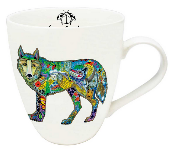 Indigenous Collection Mug, Wolf Standing