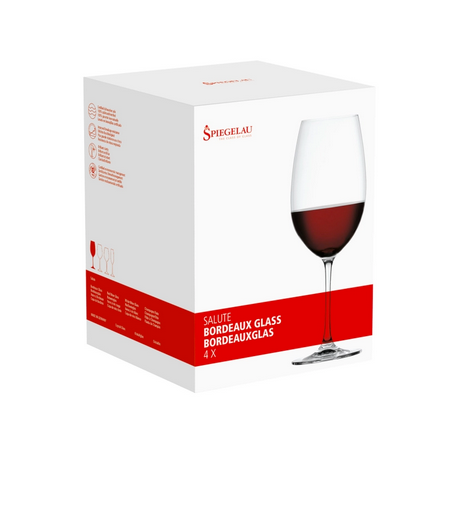 Spiegelau Salute Bordeaux Glasses, 25oz Set of 4