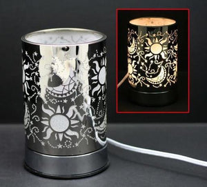 Touch Sensor Lamp - Silver Galaxy w/Scented Oil Holder, 7""