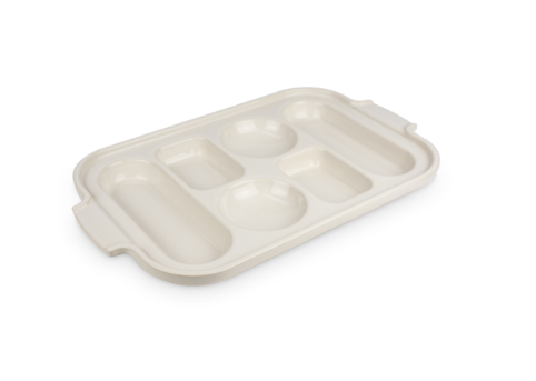Appolia Ceramic Bread Sampler Pan, Ecru 37.5cm