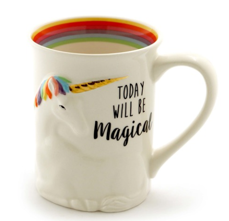 ONIM Mug - Magical Unicorn, Sculpted Mug 16oz