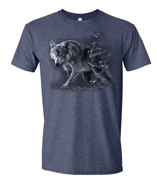 Wolf On The Prowl Adult T-Shirt