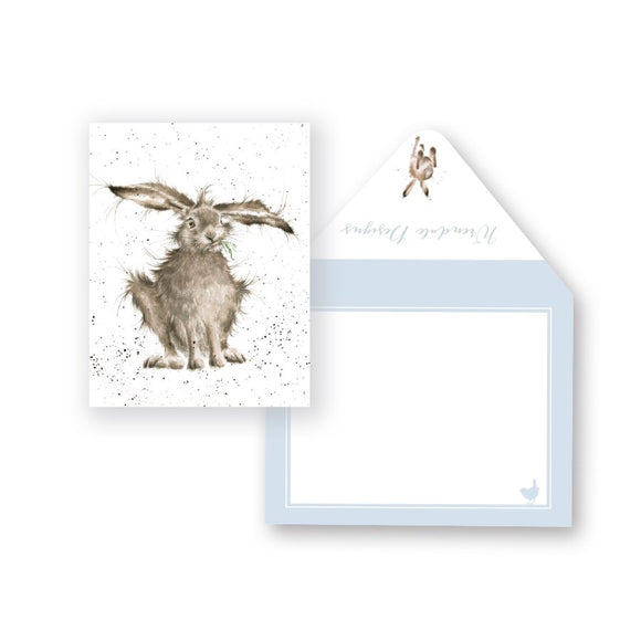 Wrendale Mini-Card, Hare-Brained