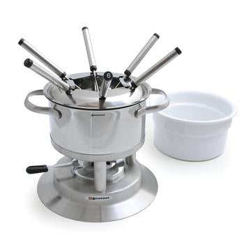Arosa 3-in-1 Fondue Set, 11pc, SS & Ceramic 1.5L