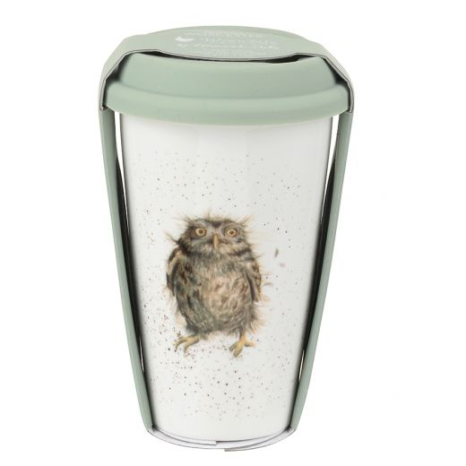 Wrendale Travel Mug: What A Hoot (Owl), 11oz