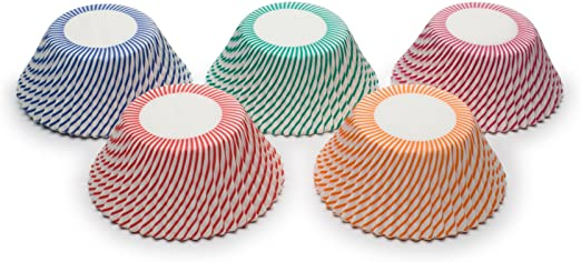 Fox Run Swirl Bake Cup Set, 100 Cups Asst'd Colours