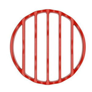 "Silicone Pressure Cooker Rack, Round 7"" Red"
