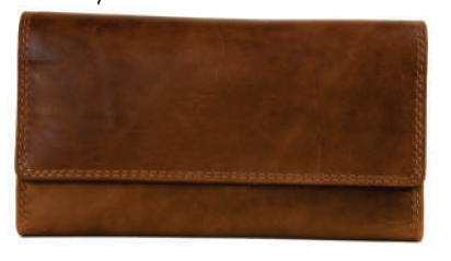 Rugged Earth Leather Organizer/Wallet, Style 990001