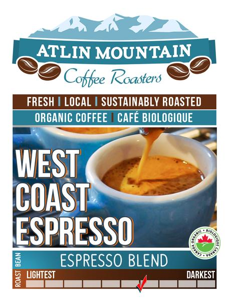 West Coast Espresso Organic Coffee Beans - Ground - 400 grams