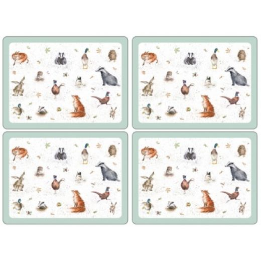 Wrendale Animal Collage Placemats, Set of 4, Corkbacked 40x30cm