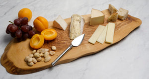 Olive Wood Timber Slice Cheese/Serving Board, 19x7""