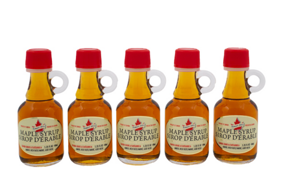 Maple Syrup Mini Jug Bottles, 5pk 40ml 'Amber'