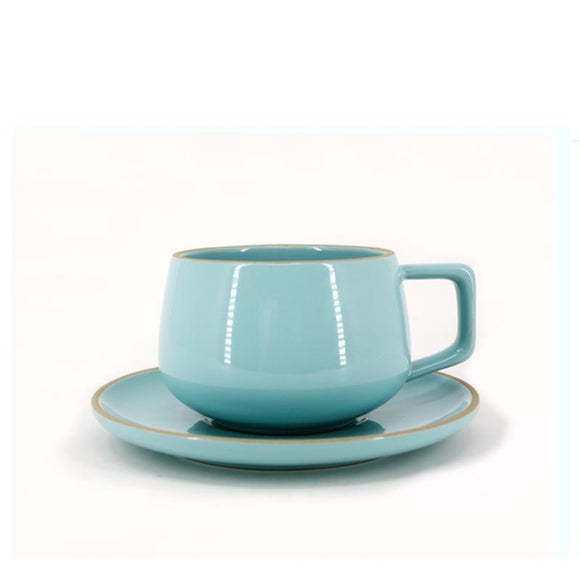 BIA Cup & Saucer, Turquoise 300ml