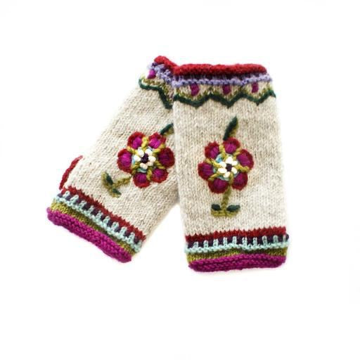Knitted - Nordic Mittens (Fingerless)