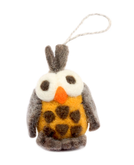 Barn Owl Felt Ornament,