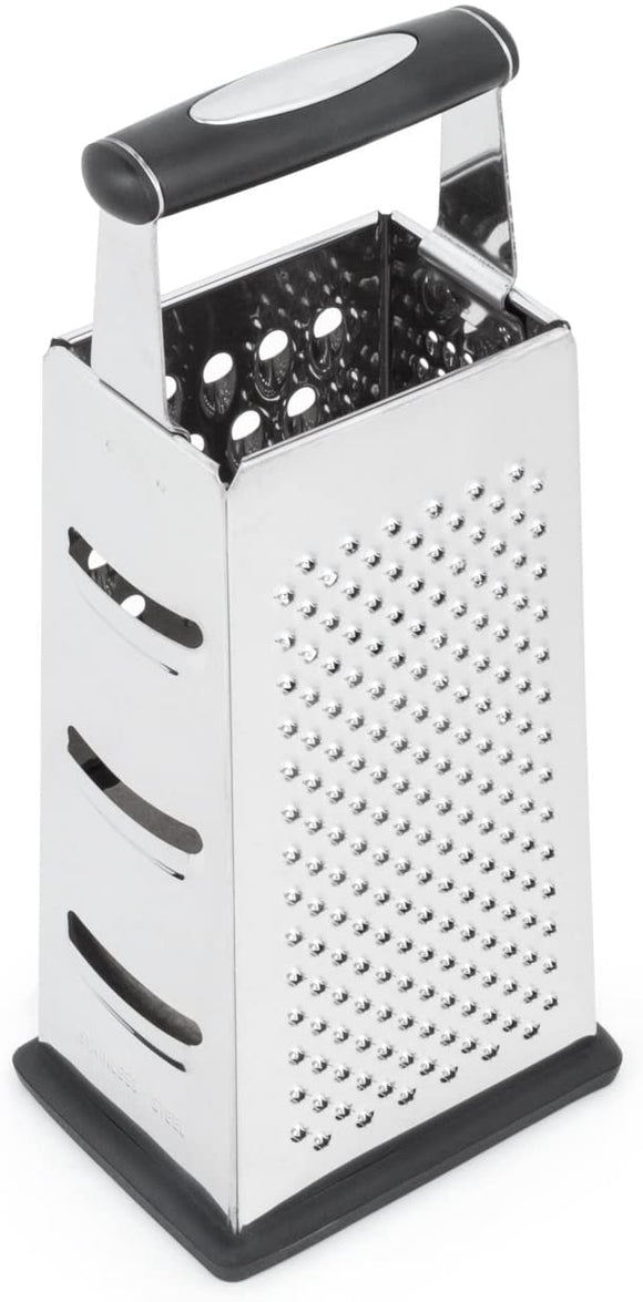 Fox Run Box Grater, 4 Sided 18/8 Stainless Steel