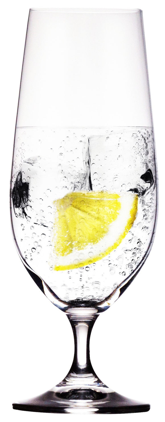 Lara Footed Water Glasses, 380mL 13.5oz, Set/4