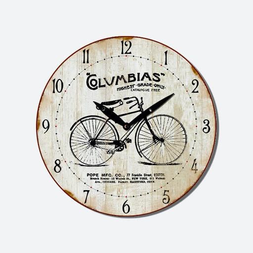 MDF Clock, Bicycle 29cm DIA