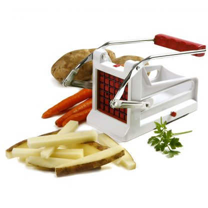 NorPro French Fry Cutter, White/Red