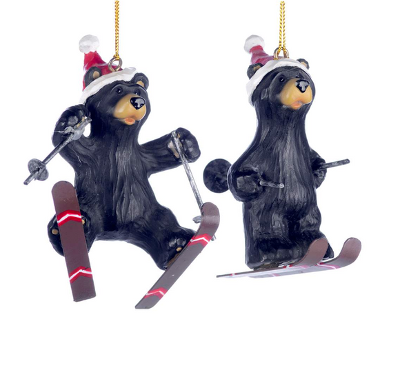 Skiing Bear Ornaments, 4