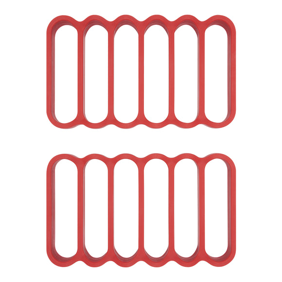 OXO Silicone Roasting Racks, Set of 2 Red