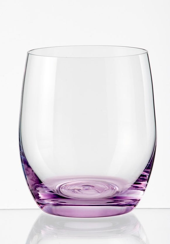 Spectrum Stemless Glasses, Set of 6 300ml, Asst'd Colours