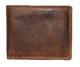 Rugged Earth Leather Wallet, Style 990012