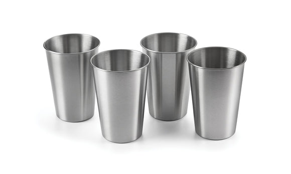 Stainless Steel Beer Glasses, Set of 4, 16oz