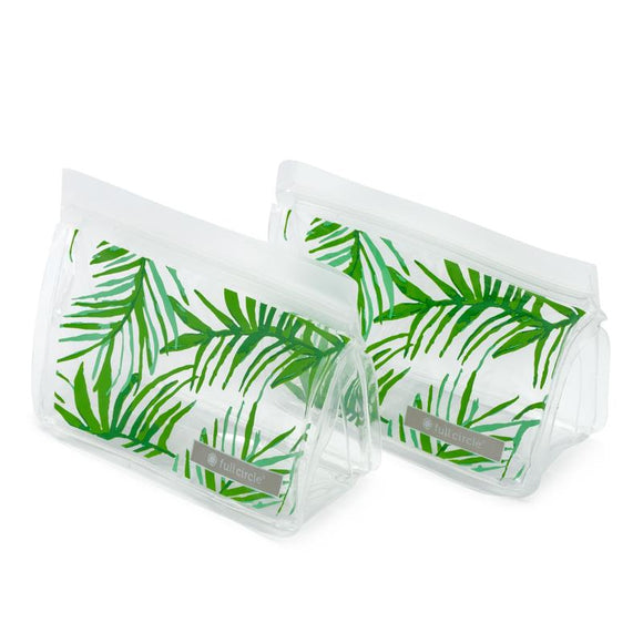 ZipTuck Re-Usable Snack Bags, Set of 2 - Palm Leaves