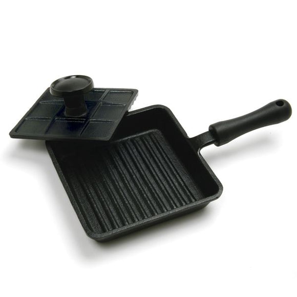 Mini-Panini Pan w/Press, Cast Iron