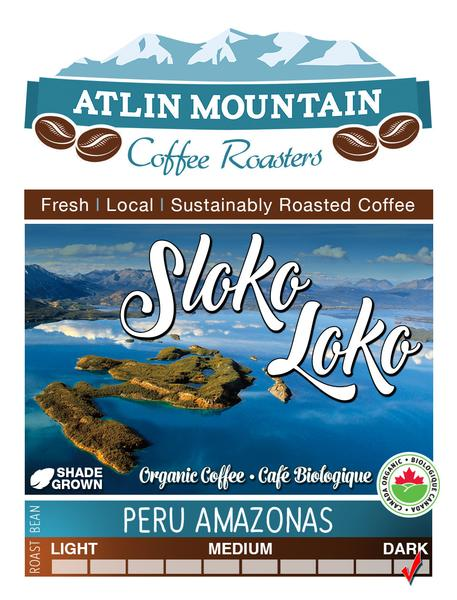 Sloko Loko Organic Coffee Beans - Ground - 400 grams