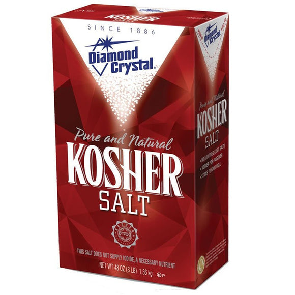 Diamond Crystal Kosher Salt, Box 3lbs/1.36kg
