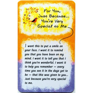 """For You, Just Because"" Wallet Card"