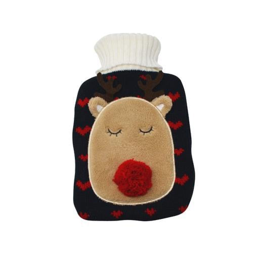 Hot Water Bottle, Reindeer, 2 L