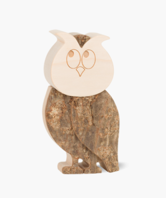 Bark Amimals, Pauline The Owl 9cm