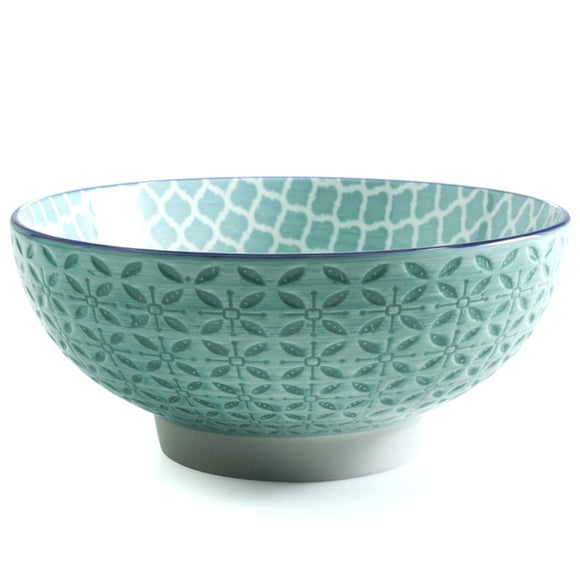Aster Serving Bowl, Turquoise 7.25